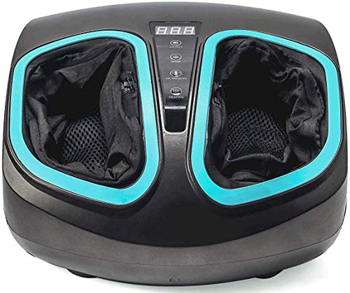 InvoSpa Electric Foot Massager Machine with Heat - Shiatsu, Deep Kneading Foot Massage with Soothing Infrared Heat and Air Compression Relieve Pains from Plantar Fasciitis and Tired Feet