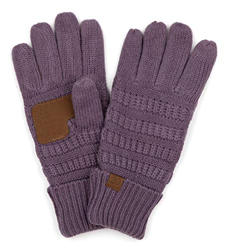 G2-6020a-79 CC Knitted Lined Gloves - Violet