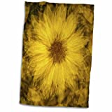 USA, Wyoming. Abstract close-of of a yellow sunflower Towel is great to use in the kitchen, bathroom or gym. This 15 by 22 inch, hand/sports towel allows you to customize your room with a special design or color. Great for drying dishes, hands and fa...