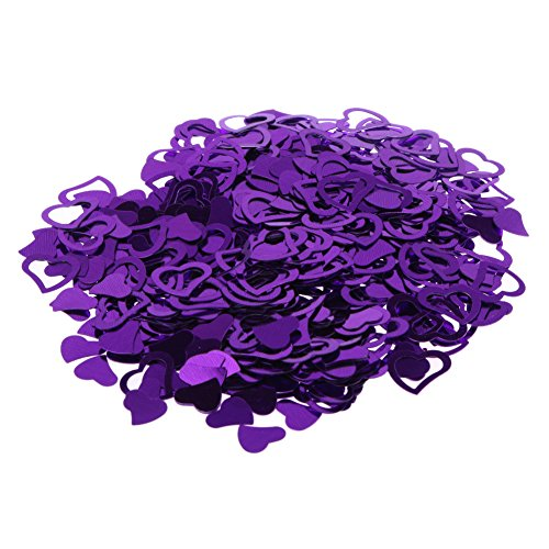 Whitelotous 3200 PCs Love Heart Table Confetti Sequins Tissue Papers Wedding Party Decoration (Purple)