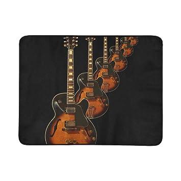 WOCNEMP Jazz Guitar Hollow Body Guitarra Eléctrica Portátil y Plegable Manta Estera 60x78 Pulgadas Estera Práctica para Acampar Picnic Playa Interior Viaje ...