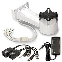 CCTV Camera Bracket, ZOTER Electrical Rotating Wall Mount Holder RS485 Control Pan 255° Tilt 50° Power Supply Kit