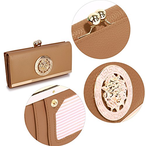 Look Metal Luxury Large Card Wallet Nude Womens Design Purses and With designer Ladies Slots 1 Decoration 71PzqT
