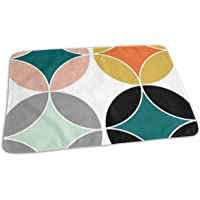"Whages Lovely Baby Reusable Waterproof Portable Modern Mid Century Style Pattern Changing Pad Home Travel 27.5""x19.7"""