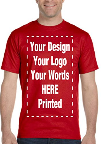 Custom T-Shirt. Personalized Tee. Add Your Own.Personalized Message. Customize (M, Red)