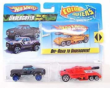 Hot Wheels Color Shifters Cars Undercover With Mega Duty Invader Car Set