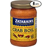 Zatarains Pre-Seasoned Crab and Shrimp Boil 72 Ounce (Pack Of 5)