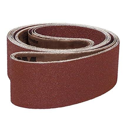 Coarse Grade Cloth Backing 6 Width Brown Aluminum Oxide 60 Length 6 Width 60 Length VSM Abrasives Co. VSM 71869 Abrasive Belt 36 Grit Pack of 10