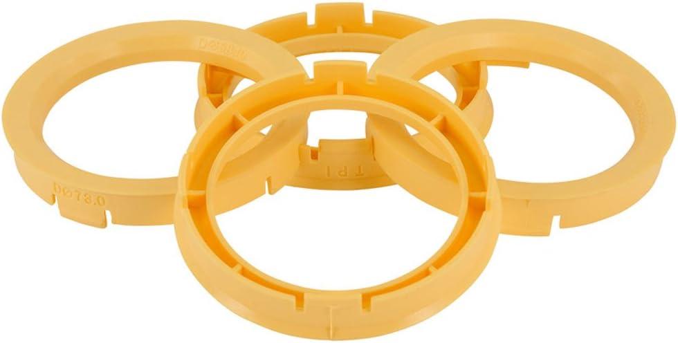 Yellow 76.1-54.1mm Set TPI Wheel hub rings