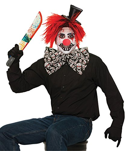 Forum Novelties X76973 Evil Clown Jumbo Bow Tie, 1 Size, Pack of -