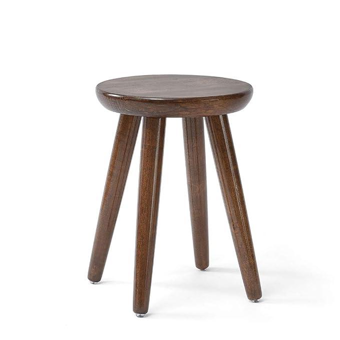 Amazon.com: ZXW STOOLS – Taburete de madera maciza a la moda ...