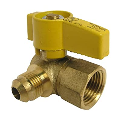 LASCO 10-1615 Angle Gas Ball Valve with 3/8-Inch Flare and 1/2-Inch Female Pipe Inlet, Brass from LASCO
