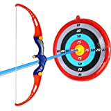 OliaDesign Toy Bow & Arrow Set with Suction Cup Arrows & Target Archery