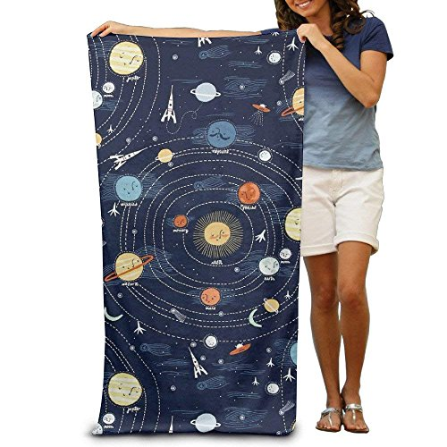 Colivy Beach Towel Solar System Microfiber Towel by Colivy