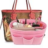 LEXSION Felt Handbag Organizer,Insert purse organizer Fits Speedy Neverfull Pink M