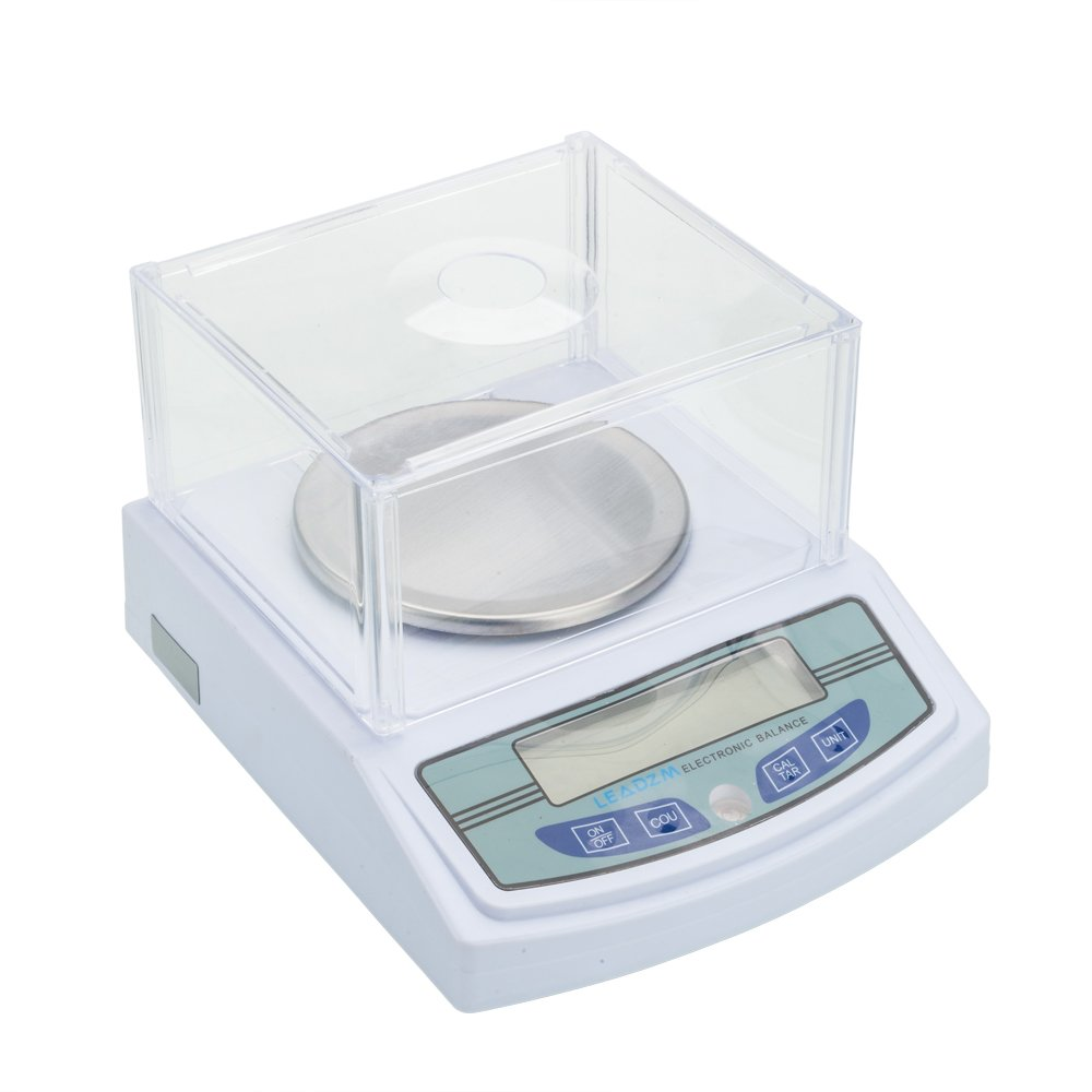 Goujxcy Lab Scale,3000G/0.01G Lab Scale Electronic Analytical Precision Experiment Balance with Battery LCD Digital 0.01g Scientific Lab Instrument