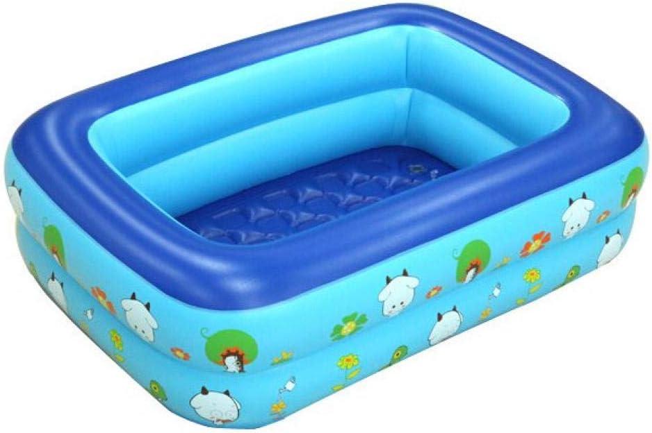 NiñoS de la Familia Rectangular NiñoS Piscina Inflable Baby Shower hogar 120x90x35 Piscina al Aire Libre @ Azul Inflable: Amazon.es: Jardín