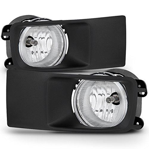 For 05-06 Dodge Magnum Black Bezel Clear Lens Bumper Driving Fog Light Lamp W/Factory Switch + Bulbs