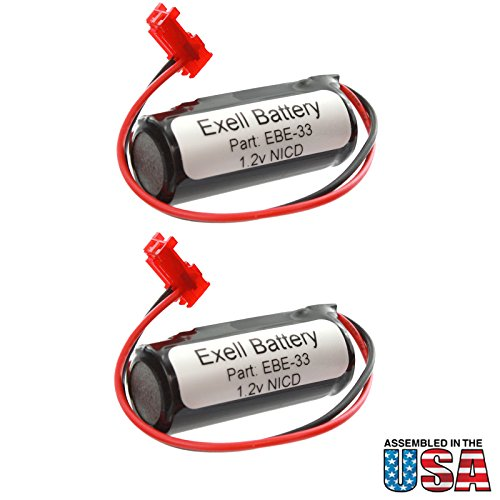 2pc Exell Battery Emergency Lighting Battery Fits and Replaces Interstate ANIC1169 Lithonia ELB1210N Lithonia ELB1P201N Lithonia ELB1P201N2 Lithonia ELB1P2901N Lithonia LQMSW3R12277ELW Saft 16440