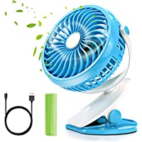 Portable Pedestal Fan,Citus Battery Operated Desk Clip-On Cooling Personal Fan Rechargeable 2600mAh or USB Powered,for Home,Office,School,Traveling Camping Fishing BBQ Baby Stroller Picnic Father Gift