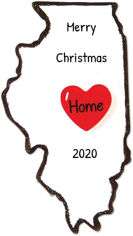 Illinois Christmas ornaments,Illinois map ornament,Christmas ornaments,Illinois state cutout decor I love Illinois Illinois State Ornament