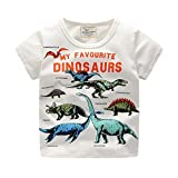 Clearance Sale Toddler Kids Baby Boys Clothes Cute Cartoon Short Sleeve Dinosaur Print T-Shirt Tops Blouse