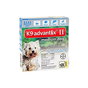 Bayer K9 Advantix II, Flea And Tick Control Treatment for Dogs, 11 to 20 Pound, 4-Month Supply