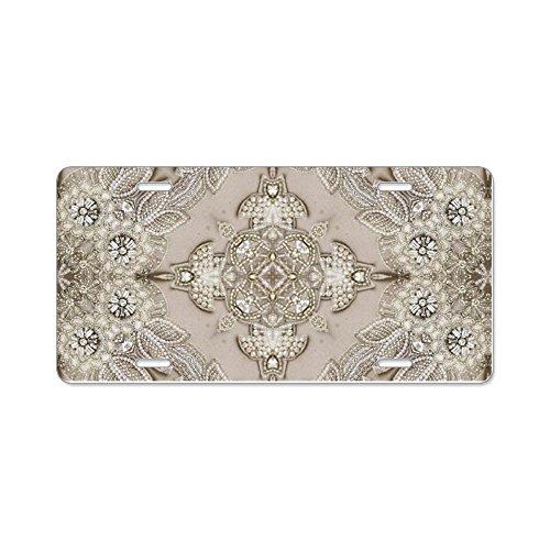 - CafePress Glamorous Girly Rhinestone Aluminum License Plate, Front License Plate, Vanity Tag