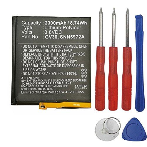 Swark New Replacement GV30 Battery for Motorola Moto Z TD-LTE, XT1650-03, Moto Z Dual SIM, XT1650-05, Moto Z Droid Edition XLTE, XT1650-01, fits Motorola GV30, SNN5972A with tools kit