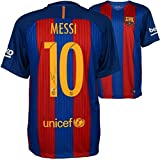 Lionel Messi Barcelona Autographed 2016-2017 Home Jersey - Fanatics Authentic Certified - Autographed Soccer Jerseys