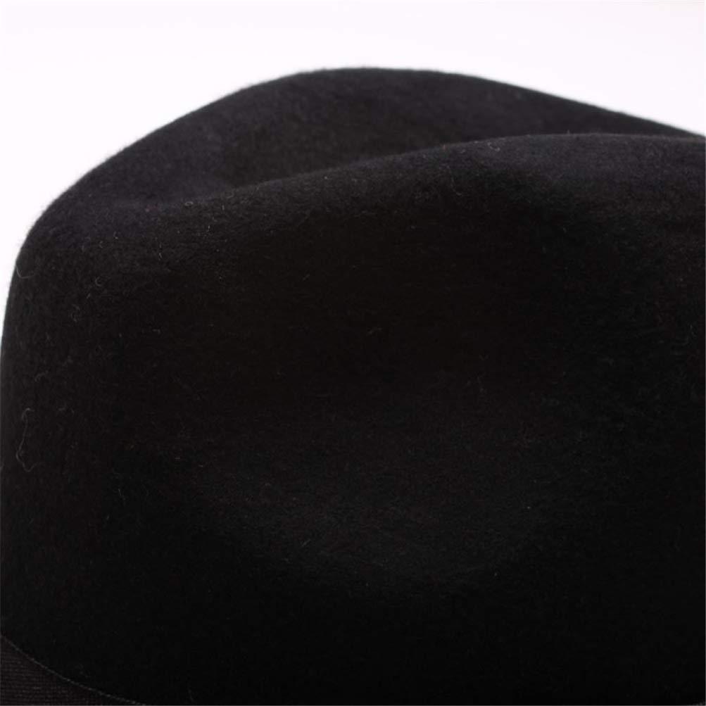 Women Men Unisex Fashion Blower Fedora Wool Felt Jazz Dance Sun Hat Trilby Letter Leather Band Gangster Cap