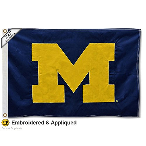 Michigan Wolverines 2x3 Foot Embroidered Flag