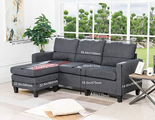 Sofa Sectional Sofa for Living Room Futon Sofa Modern Sofa Couches and Sofas Furniture Set Sofa Set Fabric Sofa Corner Sofa Upholstered Contemp