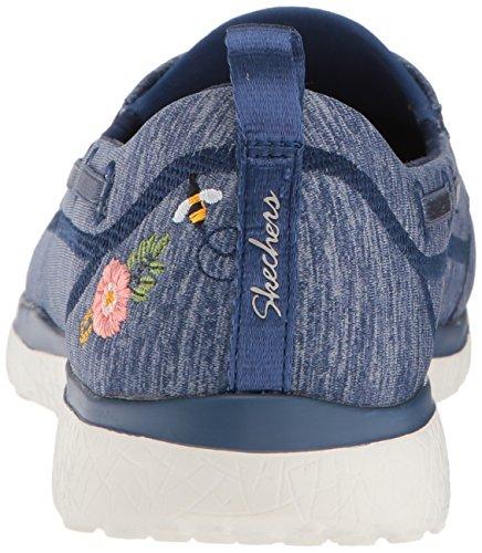 Microburst Women's Beauty Sneaker Blossoms Skechers Sport Navy wgUSq0Ev