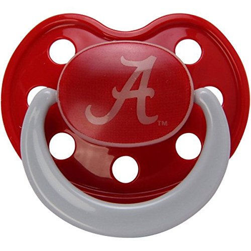 Alabama Crimson 2 Pack Baby Pacifier