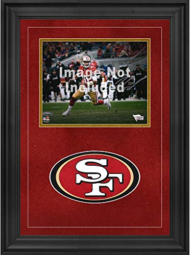 "Sports Memorabilia San Francisco 49ers Deluxe 8"" x 10"" Horizontal Photograph Frame with Team Logo - Football Other Display Cases"