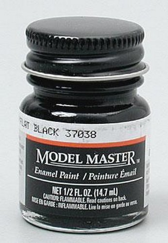 FLAT BLACK (FS37038) 1/2 oz Enamel Paint -