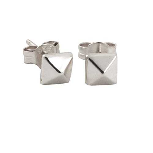 7457998b4 Amazon.com: apop nyc Sterling Silver Mini Square Pyramid Stud Earrings  [Jewelry]: Jewelry