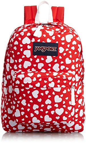 JanSport SuperBreak Backpack (HIGH RISK RED HEART TO RESIST)