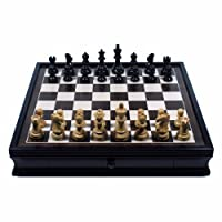 English Chess Set with Pullout Storage Drawers - 19 inch