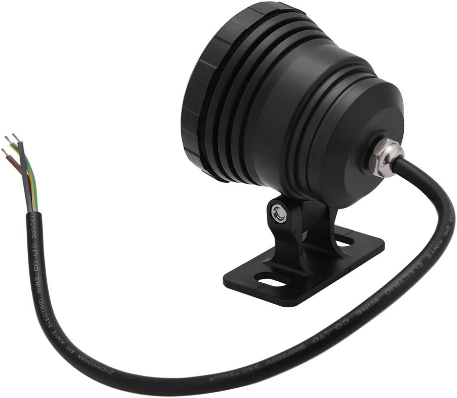 Black AC//DC 12V Yuehuam Pond Light RGB LED Underwater Light Waterproof Multi-Color Spotlight with Remote for Outdoor Garden Fish Tank Fountain