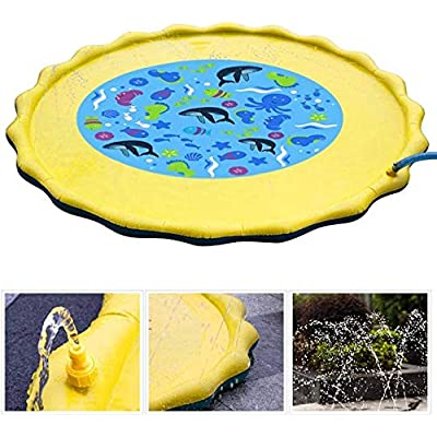 elifine Splash Pad, Sprinkler for Kids Boys Girls Toddler Children Fun Splash Play Mat Summer Outdoor Sprinkler Pad Party Water Toys Extra Large Children's Sprinkler Pool: Sports & Outdoors