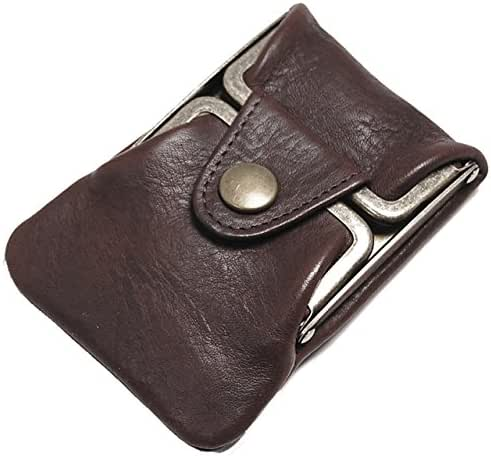 Masago Men's Made in Japan Minerva Box Leather coin purse M-601 Brown