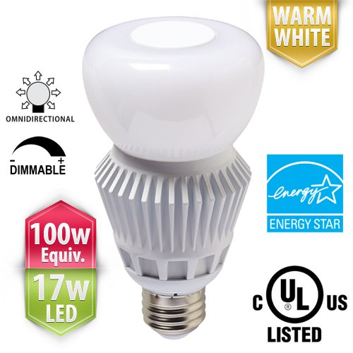 PacLights BO100WW Dimmable Omnidirectional Omni100 LED Light Bulb, Warm White