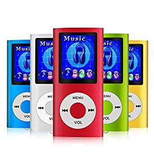 MYMAHDI - Digital, Compact and Portable MP3 / MP4 Player ( Max support 64 GB Micro SD Card ) with Photo Viewer, E-Book Reader and Voice Recorder and FM Radio Video Movie in Red