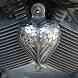 Harley Angel Wing Heart Horn Cover
