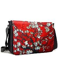 Meffort Inc 17 17.3 Inch Laptop / Notebook Padded Compartment Shoulder Messenger Bag - Vincent van Gogh Cherry Blossoming