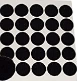 BlueDot Trading,Hook & Loop Fastener Dots Coins Adhesive Backed, 3/4'', Quantity 25, Black