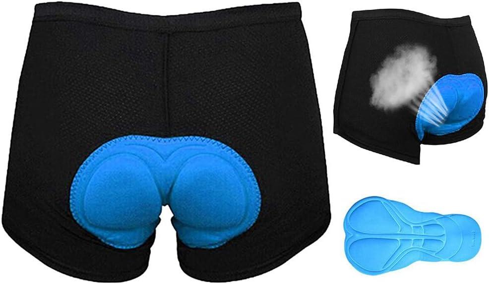 Urisgo - Pantalones Cortos de Ciclismo para Mujer con Acolchado 3D para Montar en Bici, Montar a Caballo, Tallas S-XXXL, Color Negro, tamaño Medium