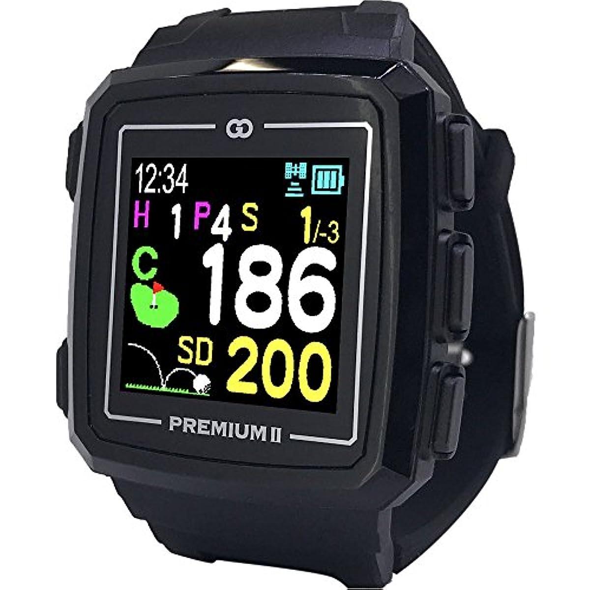 [해외] GREENON(그린 온) 골프 네비 GPS 더・골프 워치 프리미엄Ⅱ고정밀 이끌어 L1S대응 스마트폰연동 스탠스 체크 기능 첨부